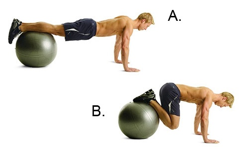 Jack knives with medicine ball